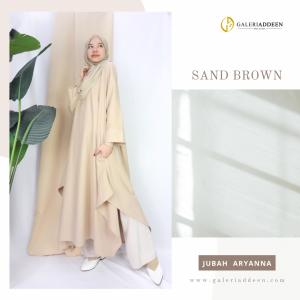 jubah aryanna sand brown_muslimah comfortwear