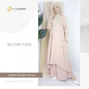 jubah seluar stella blush pink_galeriaddeen