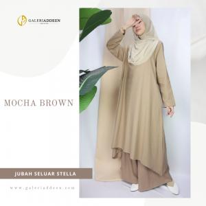jubah seluar stella mocha brown_galeriaddeen