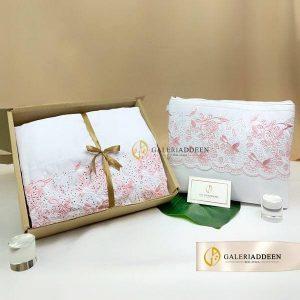 telekung maryam white pink_galeriaddeen