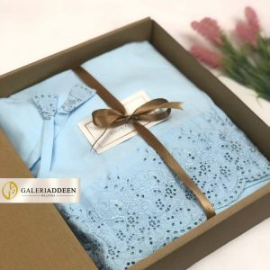 telekung hantaran in baby blue_galeriaddeen