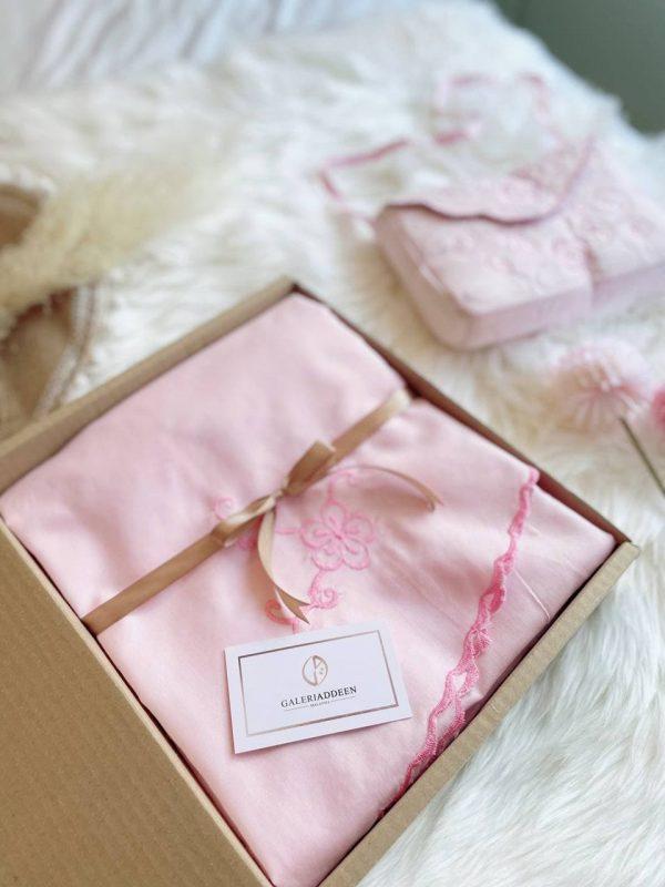telekung hadiah kalsom blush pink