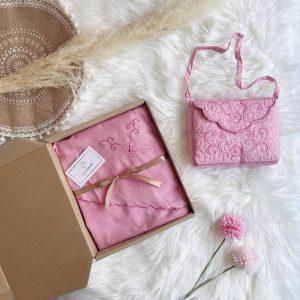 telekung travel bag floral pink_galeriaddeen
